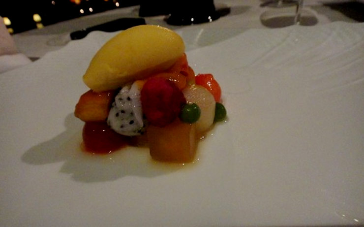 Exotic Fruit Salad And Passion Fruit Sorbet