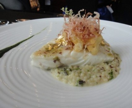 John dory with barley in risotto style
