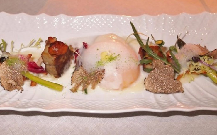 Slow Poached Egg foie gras and Summer Truffle