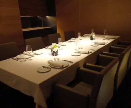 One of the two private dining rooms